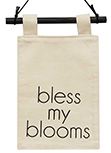 Bless My Blooms Mini Fabric Wall Hanging