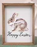 Happy Easter Watercolor Framed Sign