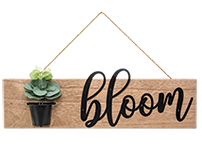 Bloom Flower Pot Wall Hanging