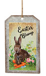 Easter Blessings Bunny Metal Tag Ornament