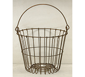Rusty Egg Basket, 7.5""