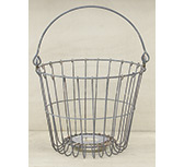 Galvanized Egg Basket, 7.5""
