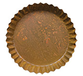 Rusty Fluted Candle Pan, 9-1/2""