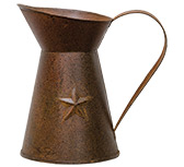 Rusty Pitcher w/Embossed Star