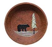*Black Bear Rusty Tin Dish
