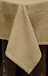 Burlap Tablecloth - 60""