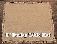 Burlap Table Mat - 9""