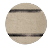 Black Stripe Round Mat