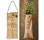 *Candle Bag w/ Jute Hanger