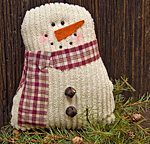 Tea-Stained Snowman, 7-1/2""