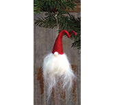 +Red Gnome Santa Ornament