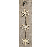 +Dangling Snowflake Ornament