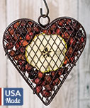 Wire Mesh Heart w/Apple Potpourri
