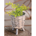 Willow Basket Plant Stand - SM