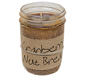 Cranberry Nut Jar Candle, 8 oz