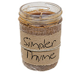 Simpler Thyme Jar Candle, 8oz