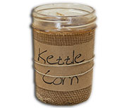 Kettle Corn Jar Candle, 8 oz