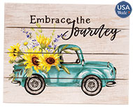 Embrace the Journey Vintage Truck Pallet Art
