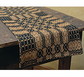 Black/Mustard Woven Long Runner