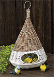 White Dipped Willow Bird House, 14\