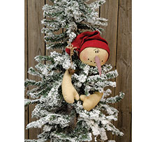 Snowman Ski Hat Tree Hugger Topper