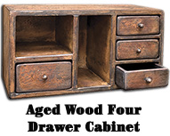 Aged Four Drawer Cabinet