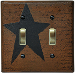Star Double Switch Plate Cover