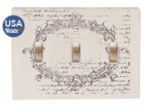 Vintage Postcard Triple Switchplate Cover