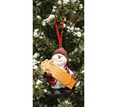 Sledding Willie Ornament