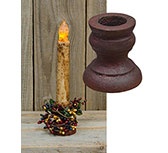 Burgundy Aged Candle Cup