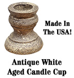 Antique White Aged Candle Cup