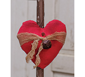 Heart Ornament w/ Rusty Bell