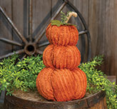 Orange Chenille Pumpkin Stack