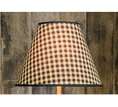 "Lampshade 13"" black /tan check"