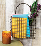 "Rusty Wire Pocket Basket - 8"" x 9"""