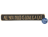 All You Need Is Love & A Cat Engraved Block, 12\