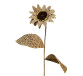 Burlap Sunflower, 13""