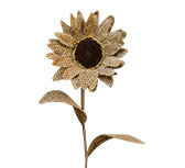 Burlap Sunflower, 16""