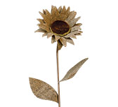 Burlap Sunflower, 22""