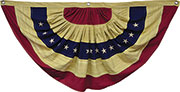 Aged Flag Bunting, 55""