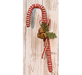 "14"" Jute Candy Cane w/Bells"
