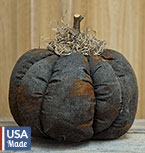 Stuffed Black Pumpkin, 5""