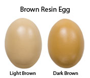 Brown Resin Egg