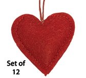 12/Set, Heart Ornaments