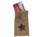 Star Burlap Bag,  5""