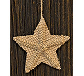 Burlap Pressed Star Ornament