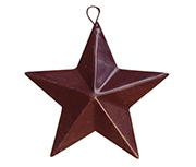 "3-1/2"" Mini Barn Star - Burgundy"