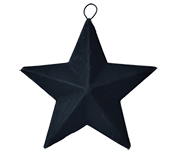 Black Mini Barn Star, 3.5""