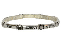 God Made Us Sisters Bracelet