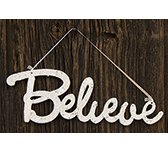 Believe Glitter Sign